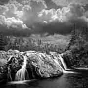 Water Falls At The Aquasabon River Mouth Poster