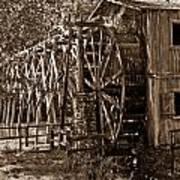 Water Mill In Action Poster by Douglas Barnett
