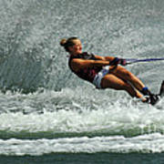 Water Skiing Magic Of Water 2 Poster by Bob Christopher