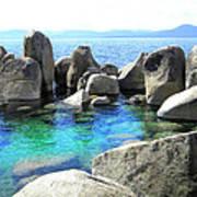 Water Stonehenge Lake Tahoe Poster