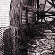 Water Wheel Old Mill Cherokee North Carolina  Poster