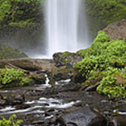 Waterfall In Gorge - Columbia River Gorge Poster
