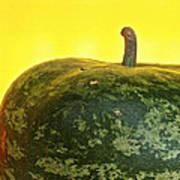 Watermelon Apple Gourd Poster