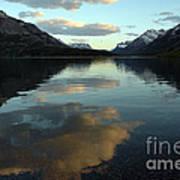 Waterton Lake Sunset Canada Poster