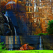 Watson Lake Waterfall Poster by Julie Lueders