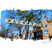 Wauwatosa Railroad Sign Poster