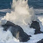 Wave Meets Seastack Poster