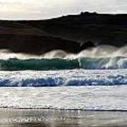 Waves At Clogher Beach Poster