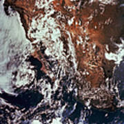 Weather Patterns Over Earth Poster