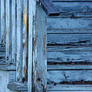 Weathered Blue Poster