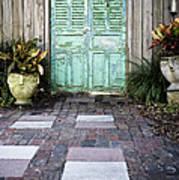 Weathered Green Door Poster by Sam Bloomberg-rissman