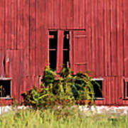 Weathered Red Barn Of New Jersey Poster