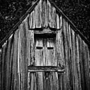 Weathered Structure - Bw Poster