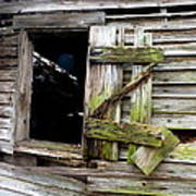 Weathered Wood Window Poster