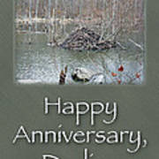 Wedding Anniversary Card - Beaver Lodge Poster