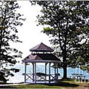 Wedding Gazebo By Lake Erie At Evangola State Park Poster