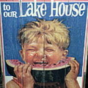 Welcome To Our Lake House Poster