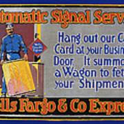 Wells Fargo Banner, 1914 Poster