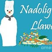 Welsh Snowman Chef Poster