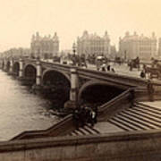 Westminster Bridge - London - C 1887 Poster