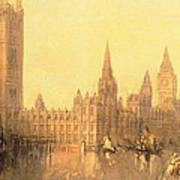 Westminster Houses Of Parliament Poster