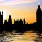 Westminster Silhouette Poster