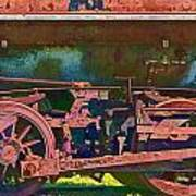 Wheels Of An Old Vintage Train Engine No.1026 Poster