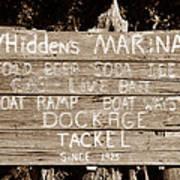 Whiddens Marina 1925 Poster