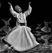 Whirling Dervish Poster by Okan YILMAZ