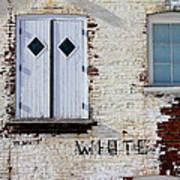 White Brick Poster