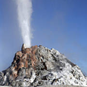 White Dome Geyser Erupting, Upper Poster