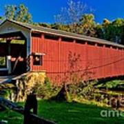 White Rock Forge Covered Bridge Poster
