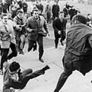 White Students Running Toward An Poster