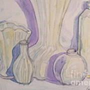 White Vases Poster