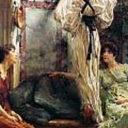 Who Is It Poster by Sir Lawrence Alma-Tadema