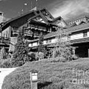Wilderness Lodge Resort Beach Walt Disney World Prints Black And White Poster