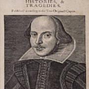 William Shakespeare First Folio Poster
