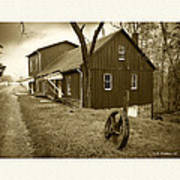 Williston Mill - Sepia Poster
