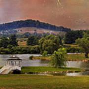 Willow Lake Series II  Poster by Kathy Jennings