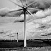Wind Turbines Mono Poster