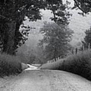 Winding Rural Road Poster