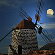 Windmill Against Sky Poster by Ernie Watchorn