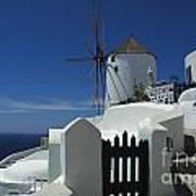 Windmill Greek Islands Poster