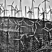 Windmills By Tehachapi  Poster by Susanne Van Hulst