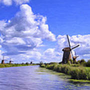 Windmills In Holland Poster