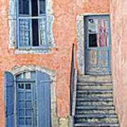 Window And Doors Provence France Poster