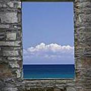 Window View At Fayette State Park Michigan Poster