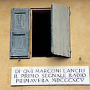 Window Where Marconi Transmitted Radio Poster