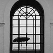 Windows On The Beach In Black And White Poster