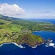 Windward Maui Aerial II Poster